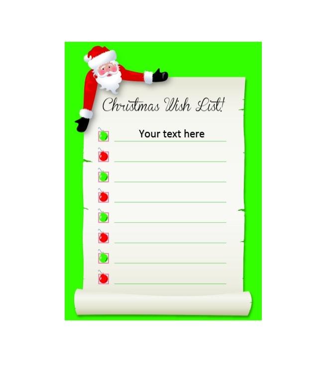 christmas wish list template 19