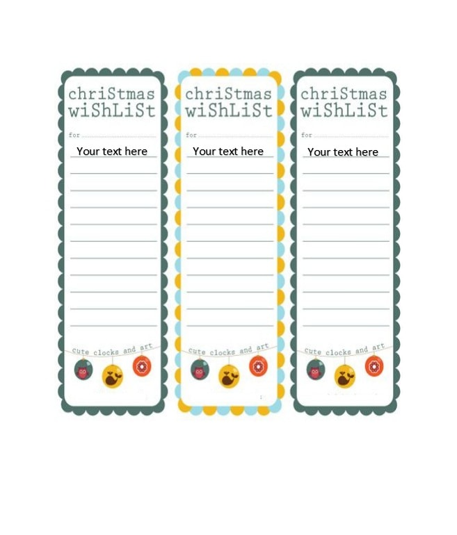 100 Christmas Wishlist Ideas – Printable Christmas Wish List Template