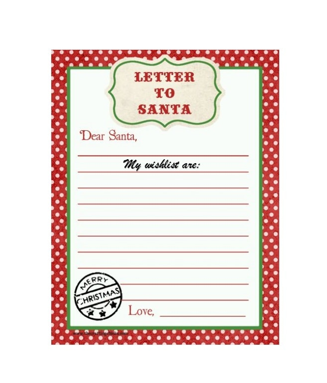 Lovely Printable Christmas Wish List