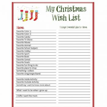 image regarding Printable Wish Lists known as 43 Printable Xmas Need Record Templates Tips