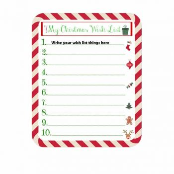 christmas wish list template 28