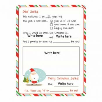 christmas wish list template 30