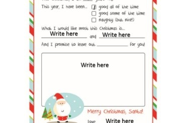 christmas wish list template 30
