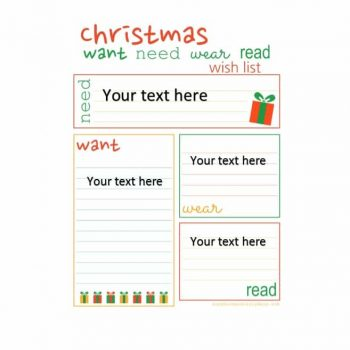 christmas wish list template 31
