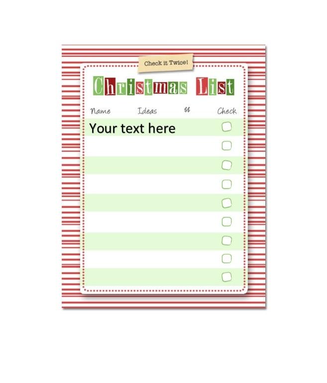 christmas wish list template 33