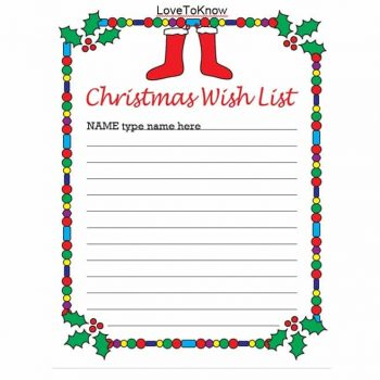 christmas wish list template 40