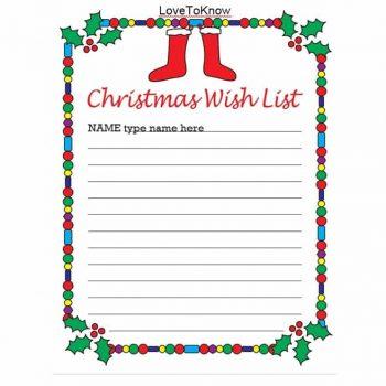 christmas wish list template 40