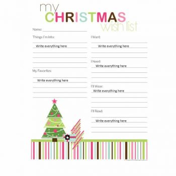 christmas wish list template 41