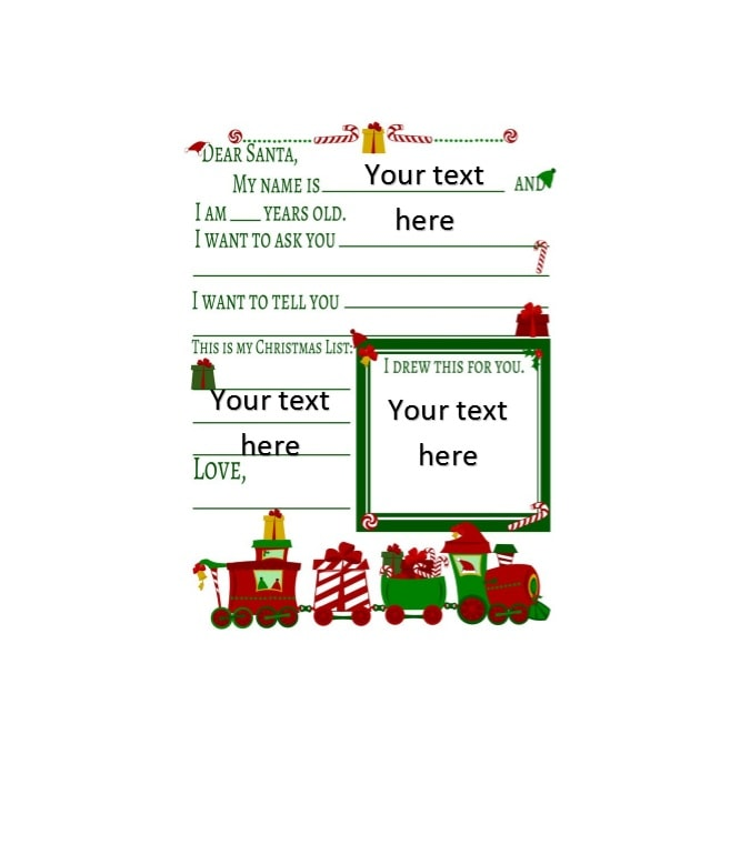 Christmas Wish List Template 43