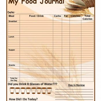 food journal template 12
