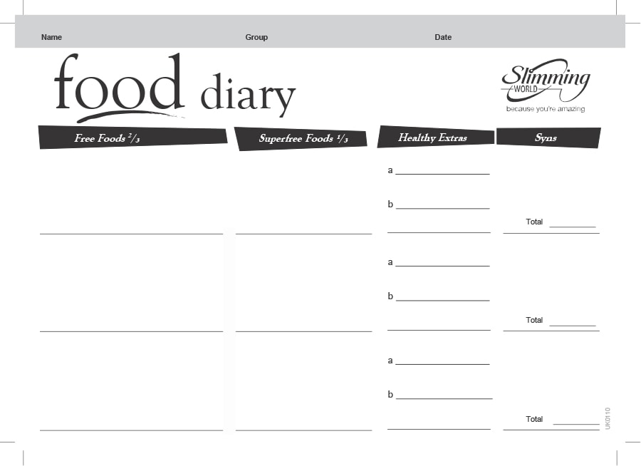 graphic regarding Printable Weekly Food Journal titled Food stuff Magazine - 30+ Appealing Templates - Template Archive