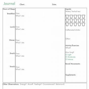 food journal template 25