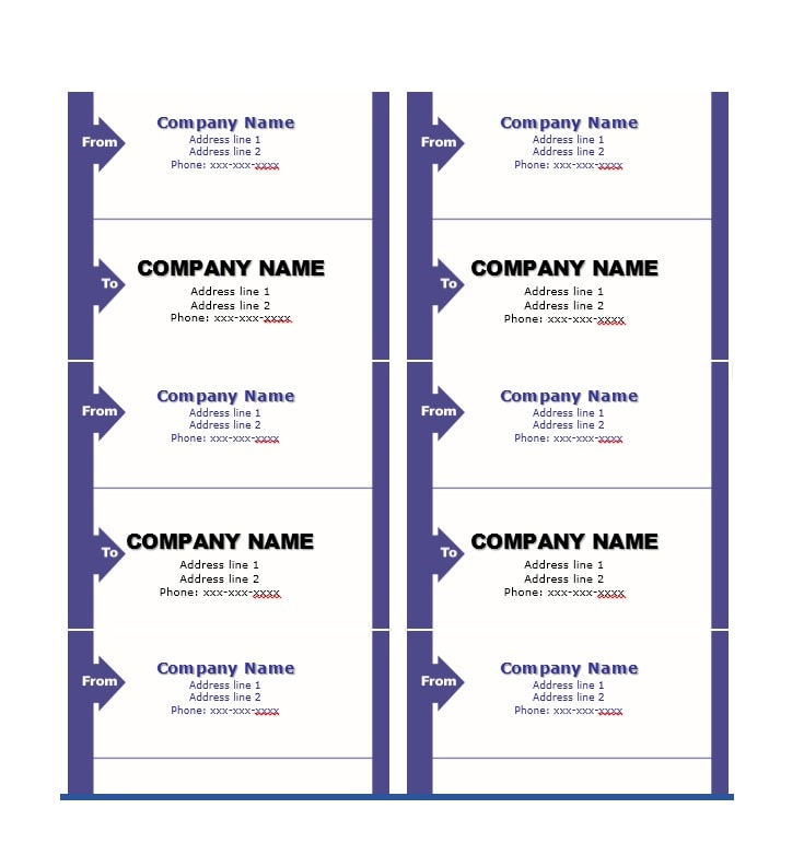 Fantastic Label Templates Address Shipping Mailing - Package mailing label template