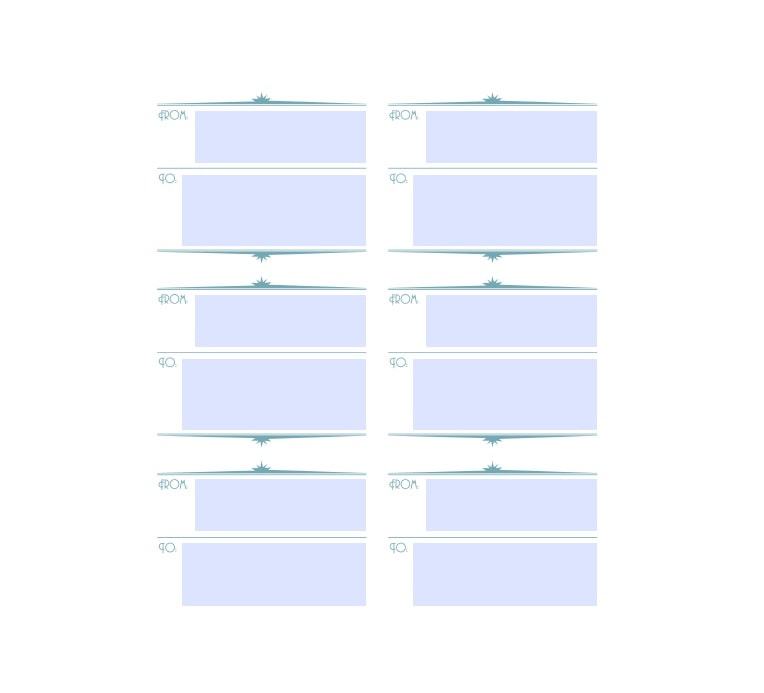 mailing label template 13