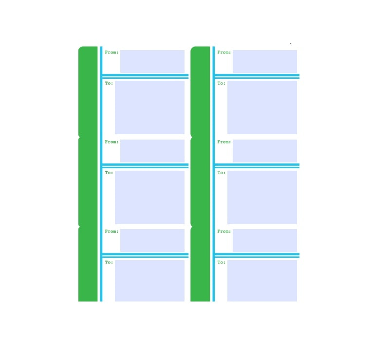 mailing label template 14