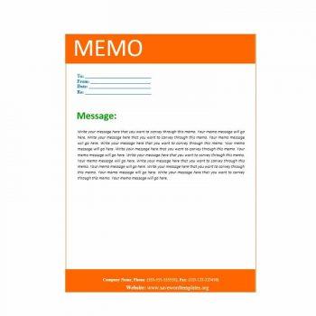 memo template 04