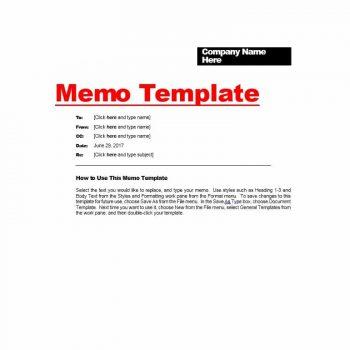 memo template 05