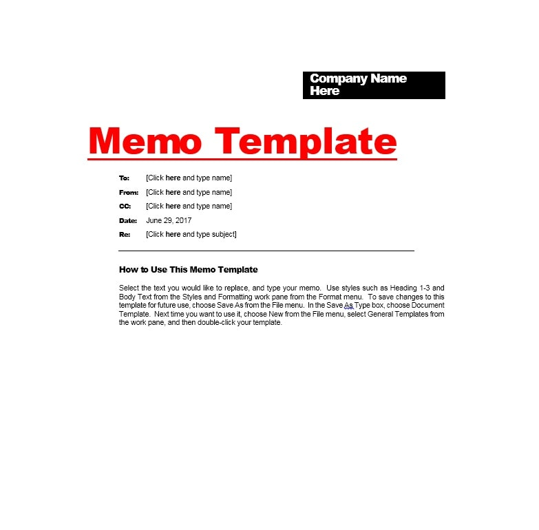 Good Memo Template 05 Ideas Memo Templates