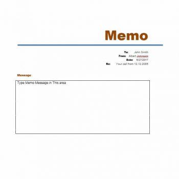 memo template 07