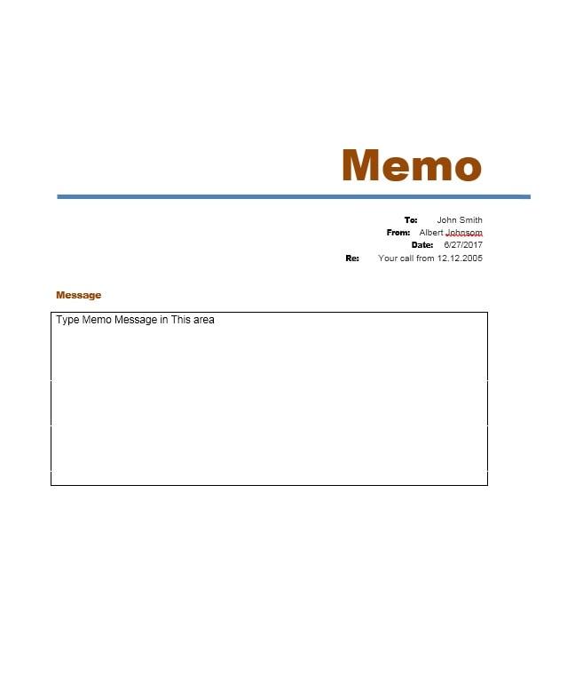 Memo Template 07  Business Memo Format Word