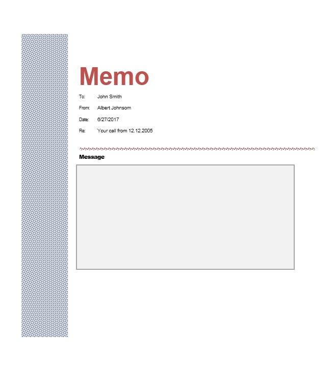 memo template 09