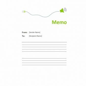 memo template 11