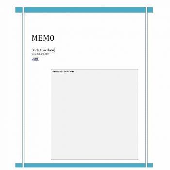 memo template 12