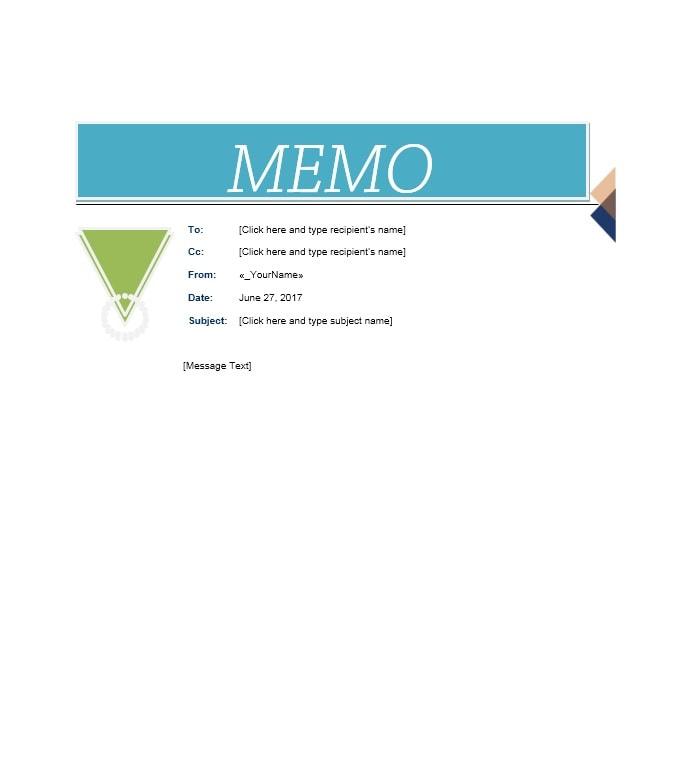 memo template 15