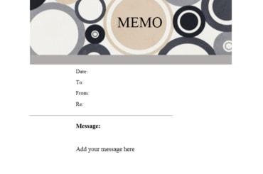 memo template 20