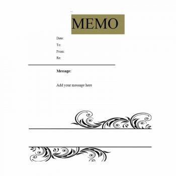 memo template 21