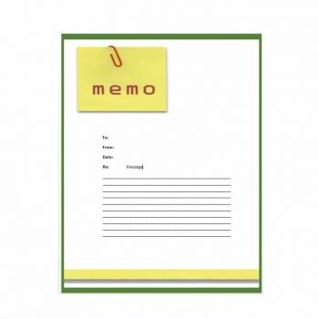 memo template 24