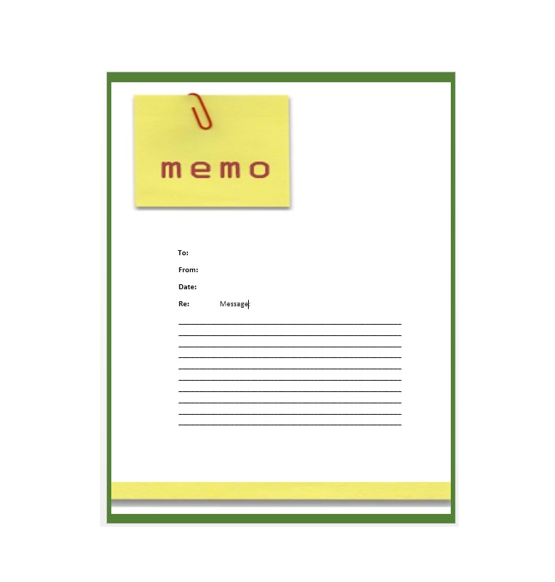 what is memo form
