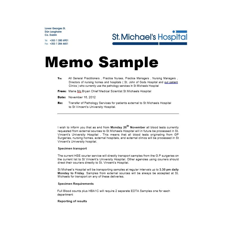 sample update memo  sample memo - Yatay.horizonconsulting.co