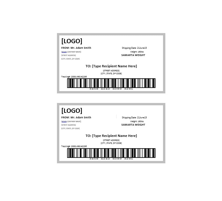 Package Label Template 17 On Package Label Template