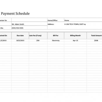 payment schedule template 11