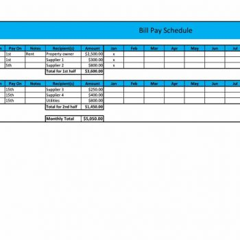 payment schedule template 14