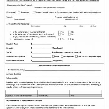 rental verification form 06