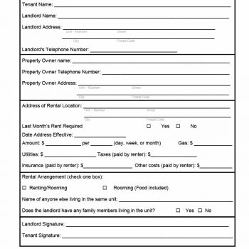 rental verification form 17