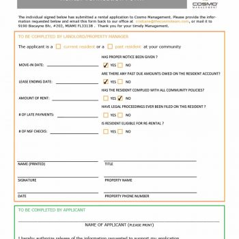 rental verification form 22