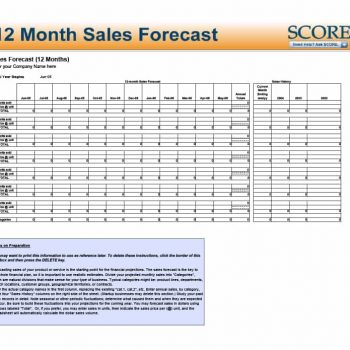 sales forecast template 06