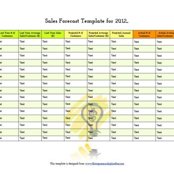 sales forecast template 15