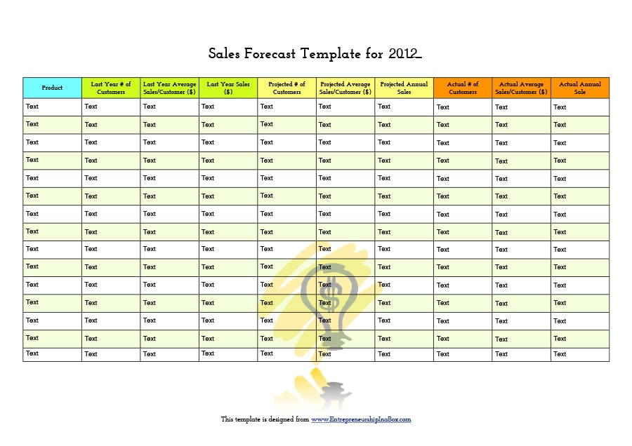 39 sales forecast templates spreadsheets template archive sales forecast template 15 wajeb Gallery