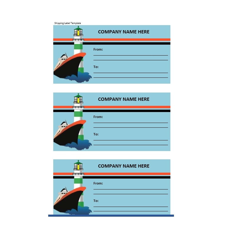 shipping label template 19