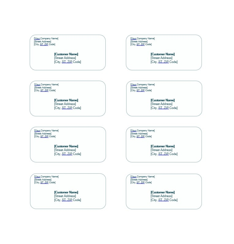 shipping label template 26