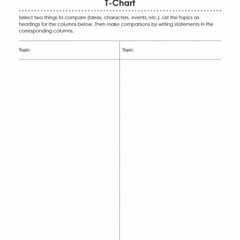 t chart template 04