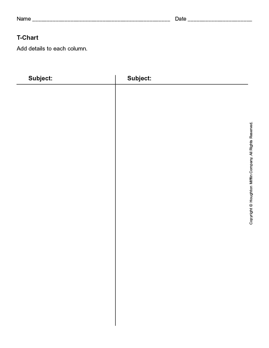 dorable blank t chart template component example resume