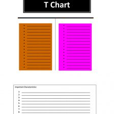 t chart template 10