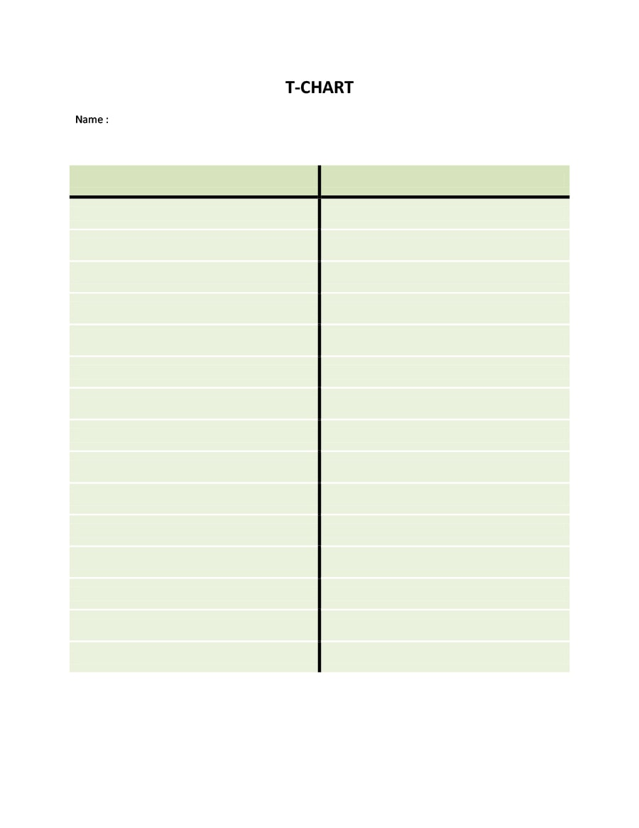 t chart template 15