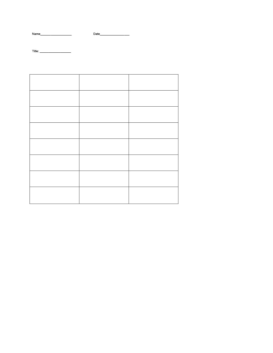 t chart template 19