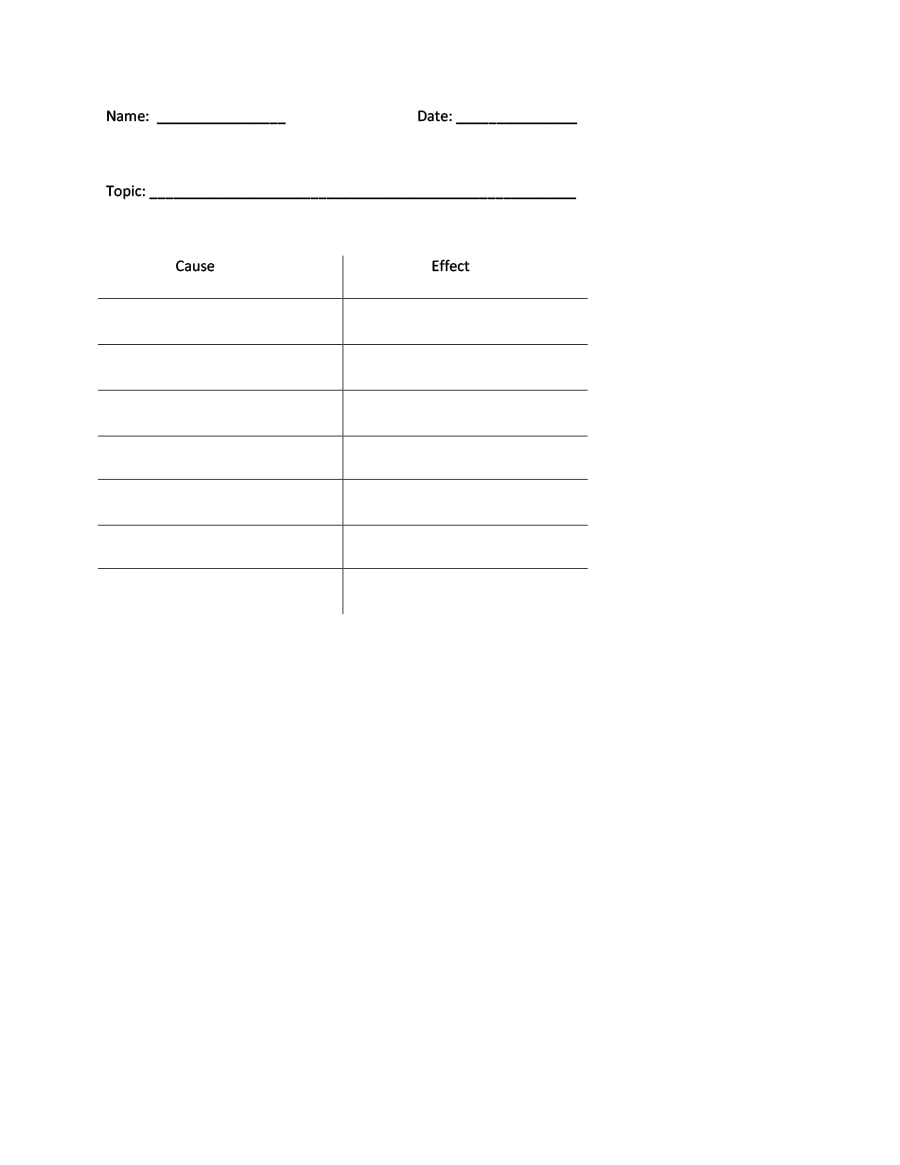 t chart template 20